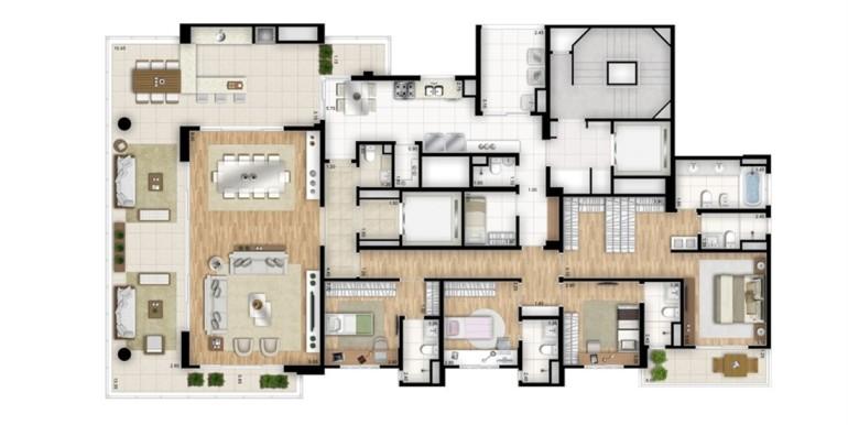 essenza moema-planta-tipo-padrao-4-suites-banho-senhor-e-senhora-na-suite-master-torre-bianco