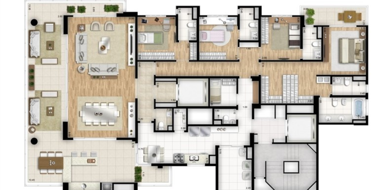 essenza moema-planta-tipo-padrao-4-suites-banho-senhor-e-senhora-na-suite-master-torre-nero