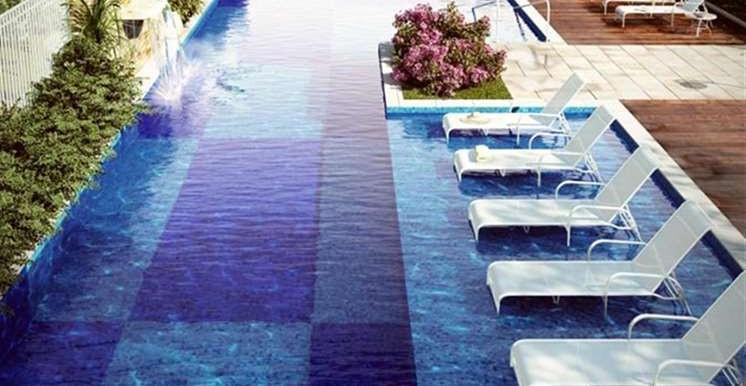 piscina com vista para o parque privativo